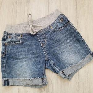 Justice girls 10R midi jean shorts